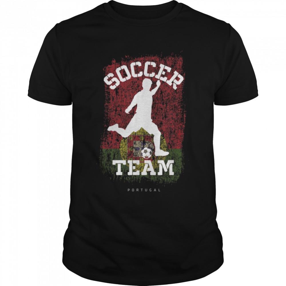 Soccer Portugal Flag Football Team Soccer Player T-Shirt B09JPFPBYK