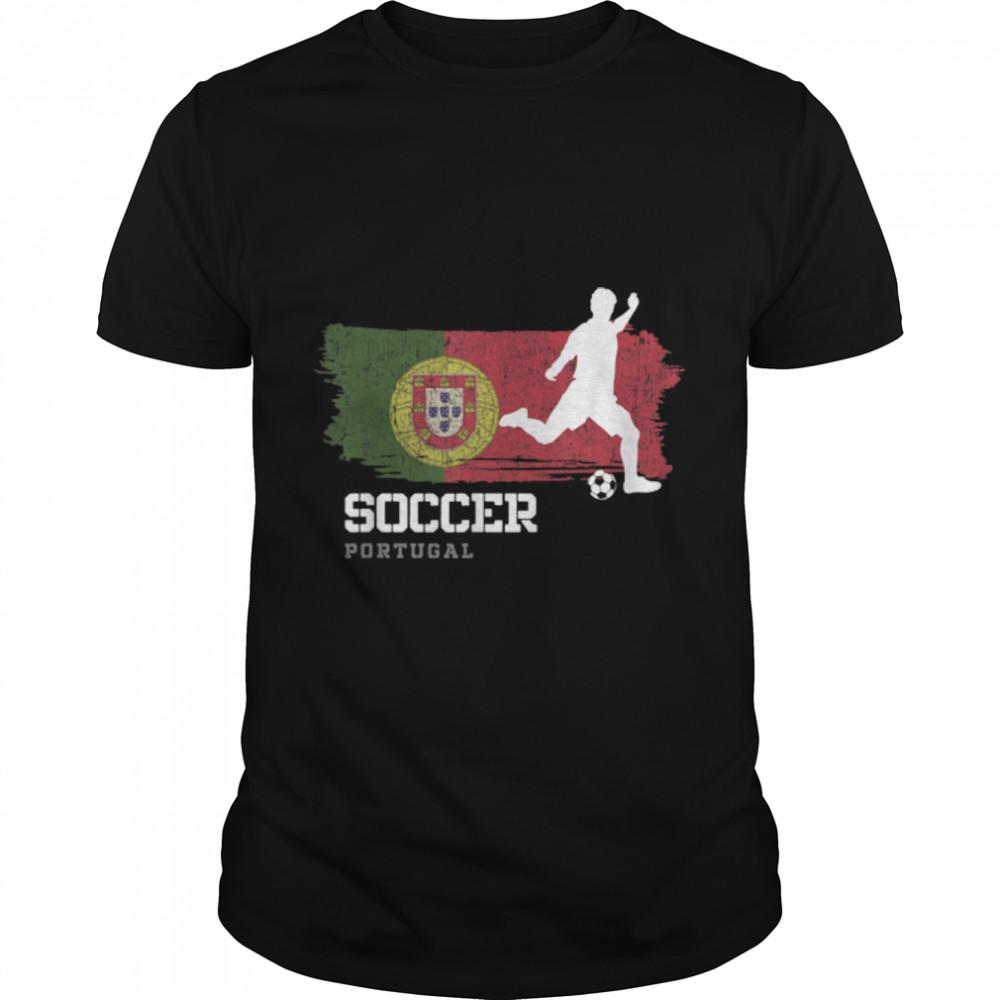 Soccer Portugal Flag Football Team Soccer Player T-Shirt B09K1YVLN5