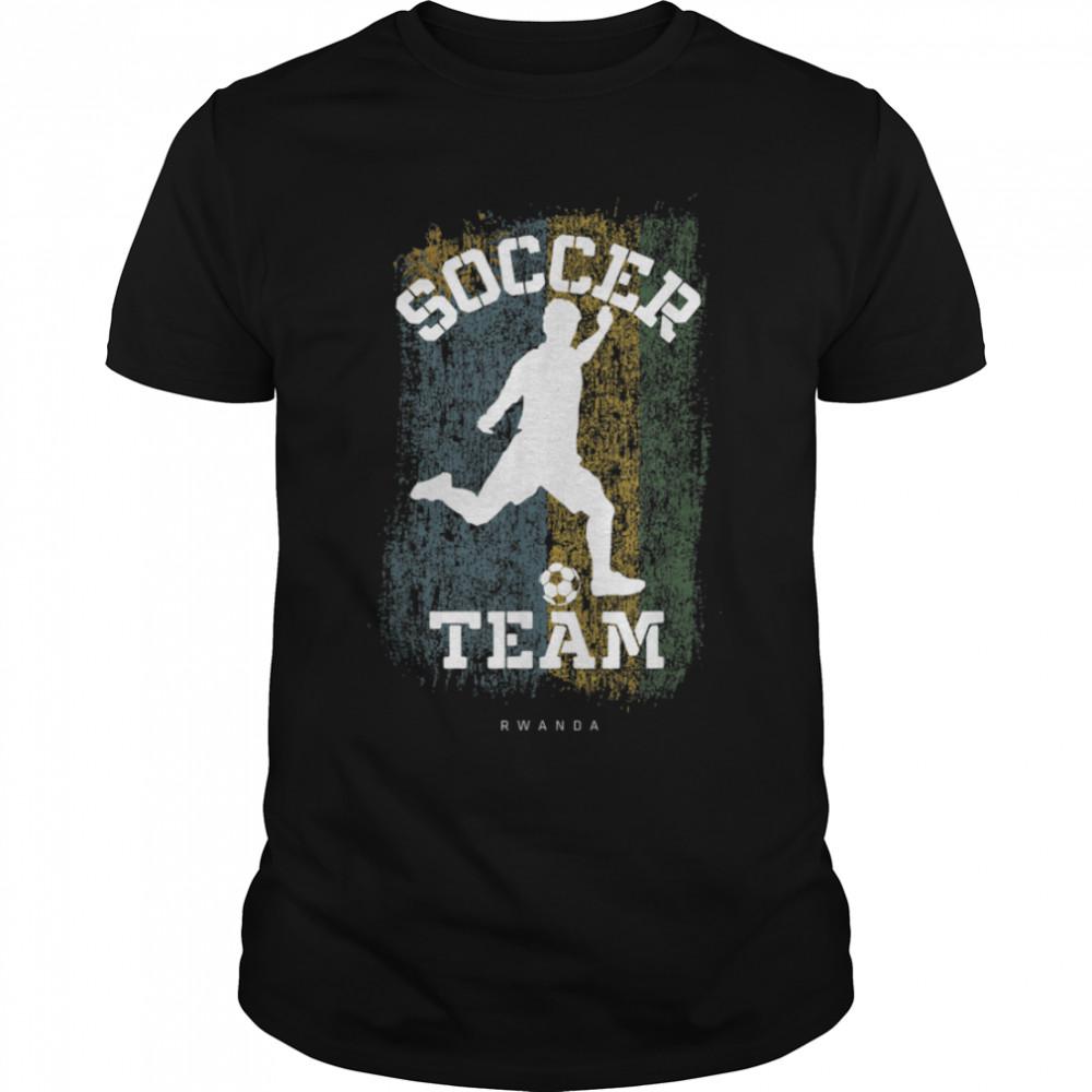 Soccer Rwanda Flag Football Team Soccer Player T-Shirt B09JPCZ64V