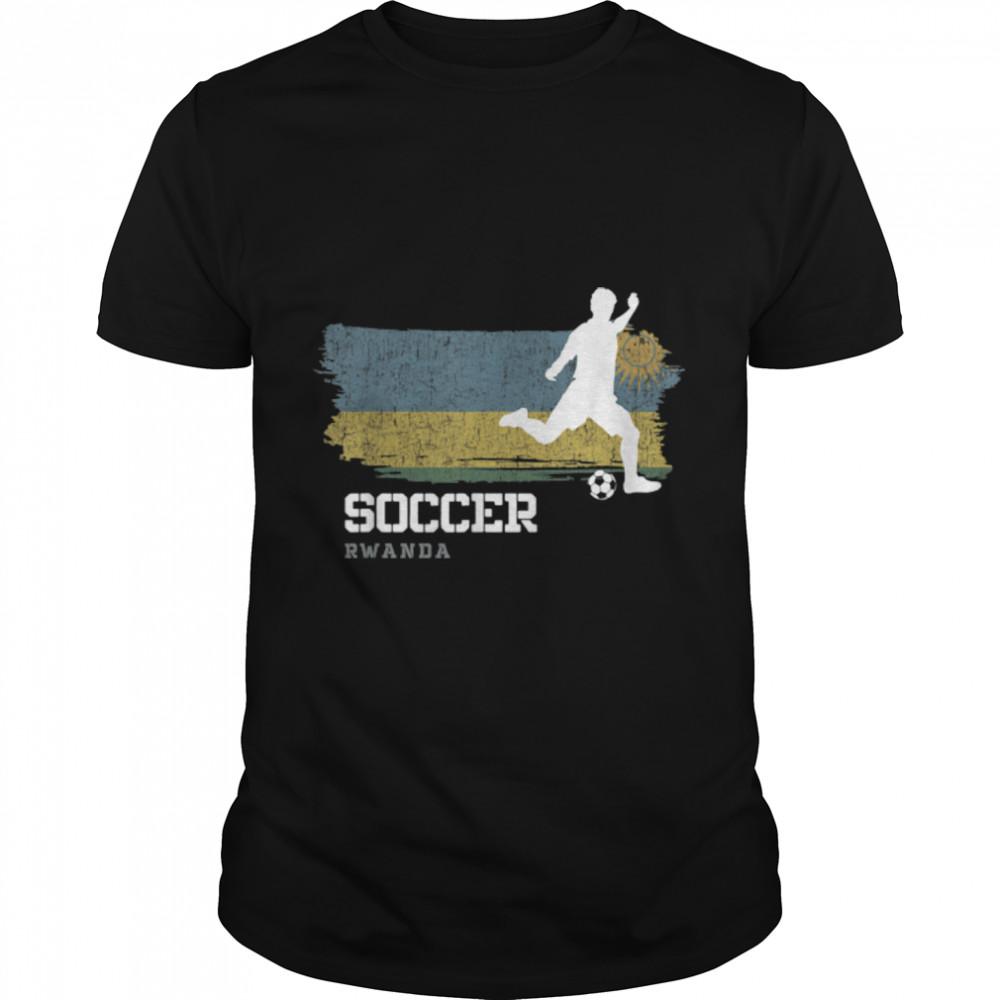 Soccer Rwanda Flag Football Team Soccer Player T-Shirt B09K11PGCV