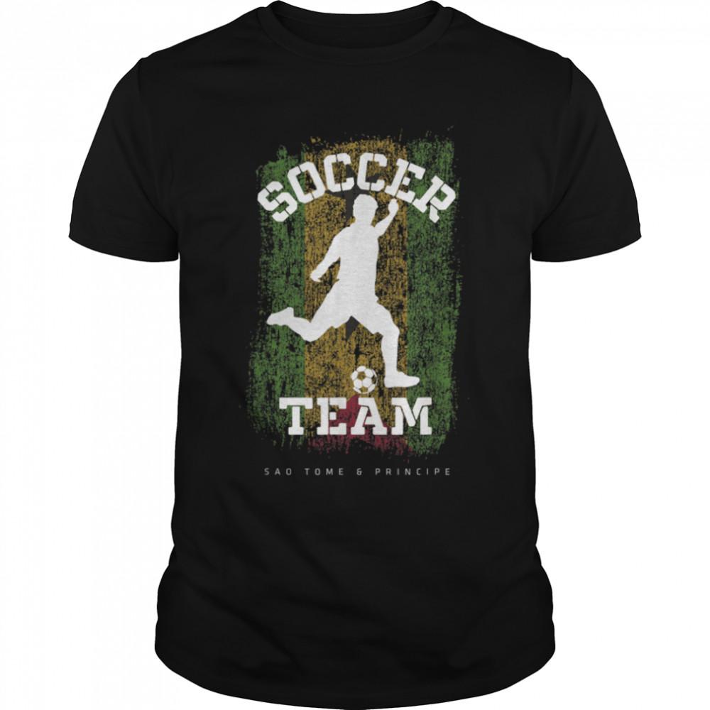 Soccer San Marino Flag Football Team Soccer Player T-Shirt B09JPFJDPB
