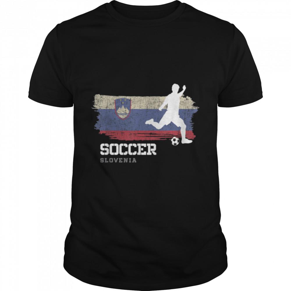 Soccer Slovakia Flag Football Team Soccer Player T-Shirt B09K1YFB8C
