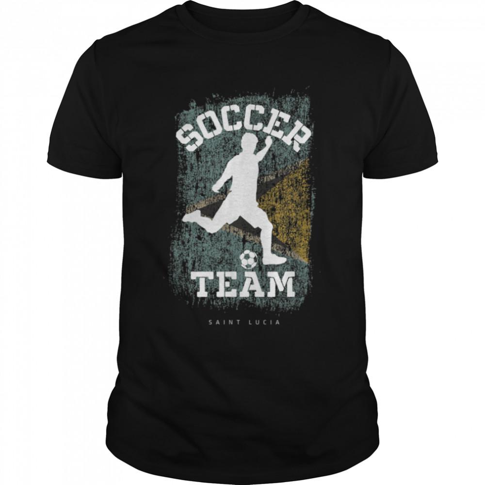 Soccer St. Kittis & Nevis Flag Football Team Soccer Player T-Shirt B09JPF8HT5