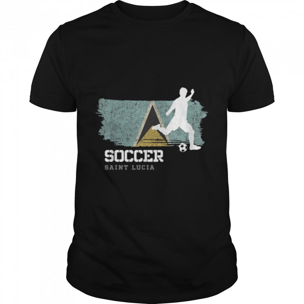 Soccer St. Kittis & Nevis Flag Football Team Soccer Player T-Shirt B09K1T17L3