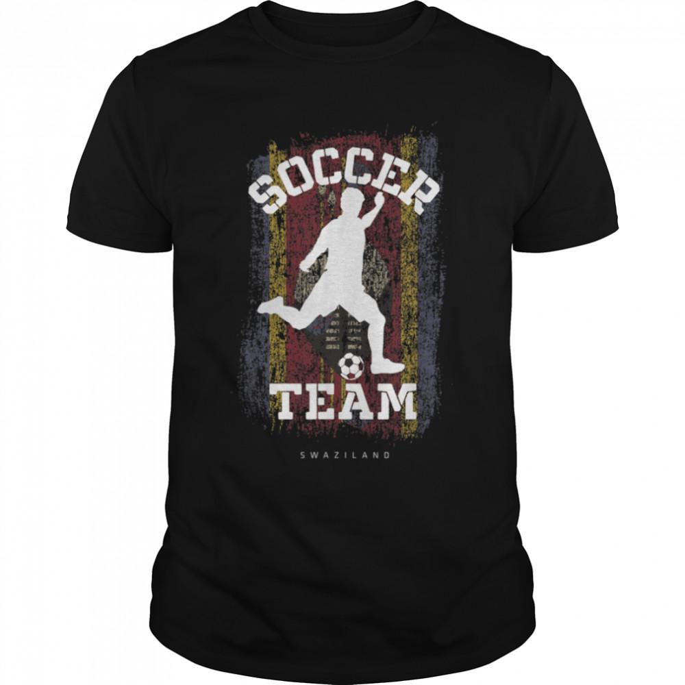 Soccer Swaziland Flag Football Team Soccer Player T-Shirt B09JPFM4QG