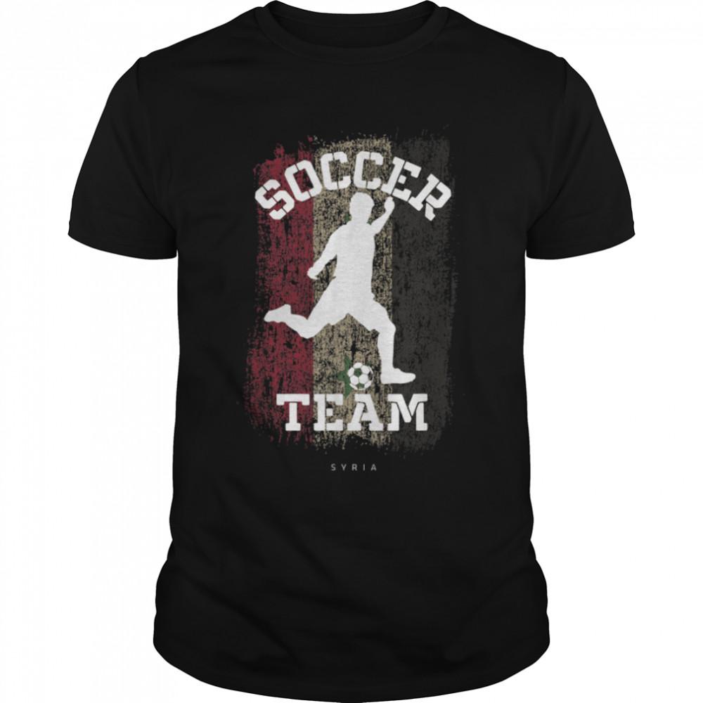 Soccer Syria Flag Football Team Soccer Player T-Shirt B09JPF2NNX