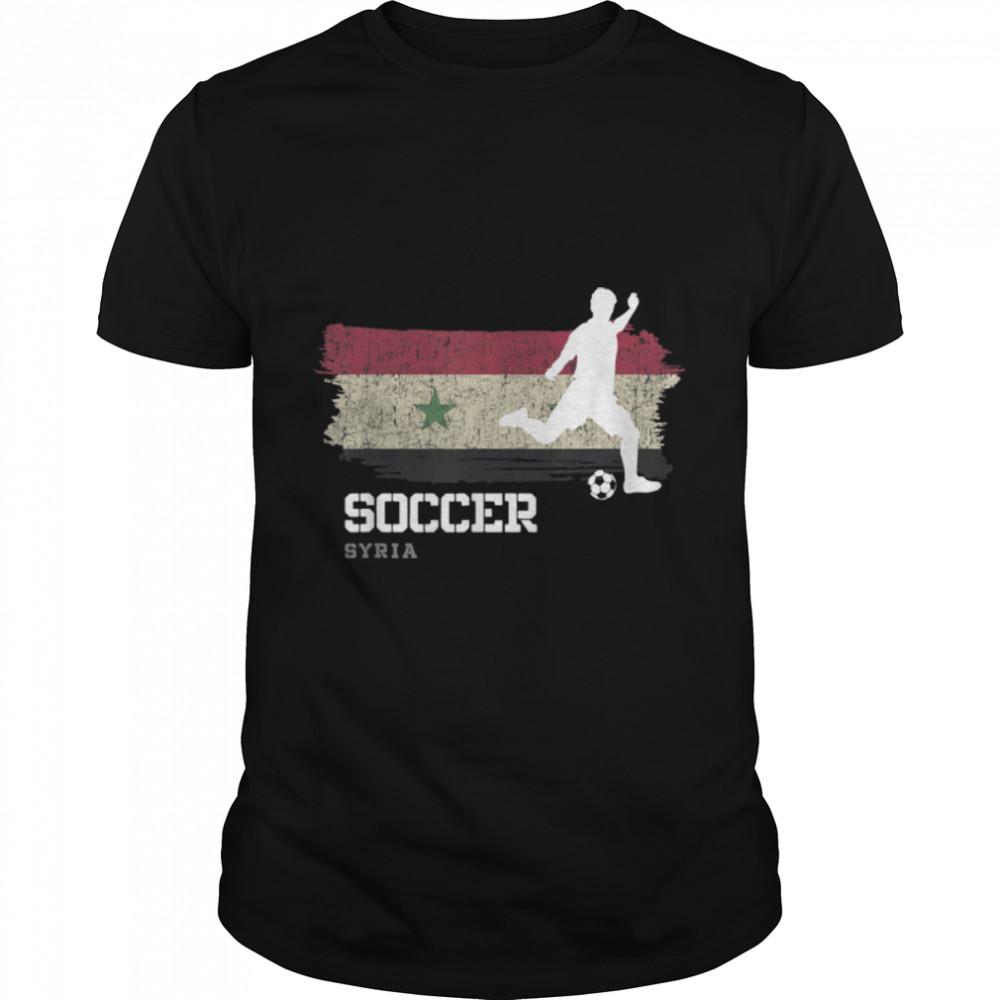 Soccer Syria Flag Football Team Soccer Player T-Shirt B09K1WBZ19