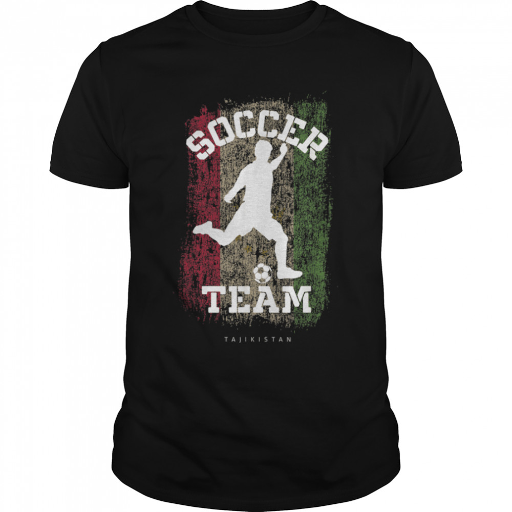 Soccer Tajikistan Flag Football Team Soccer Player T-Shirt B09JPF1GZS