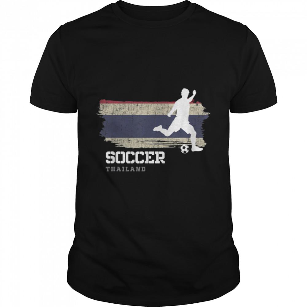 Soccer Thailand Flag Football Team Soccer Player T-Shirt B09K1YDV15
