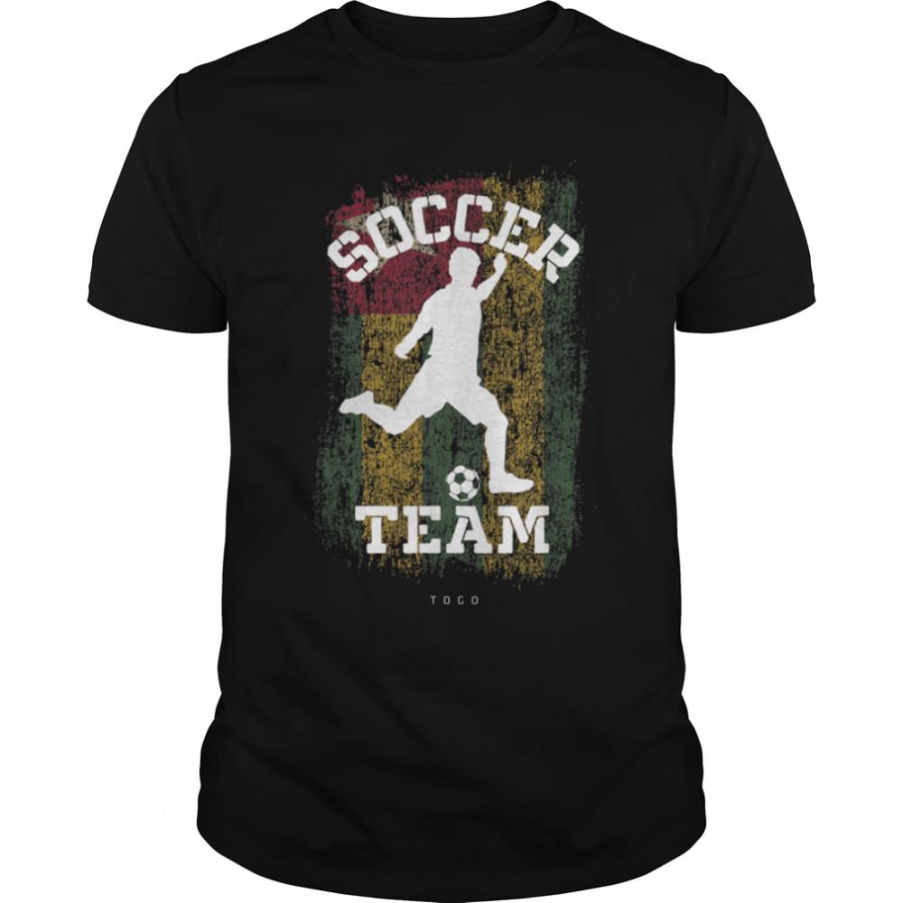 Soccer Togo Flag Football Team Soccer Player T-Shirt B09JPGFVKK