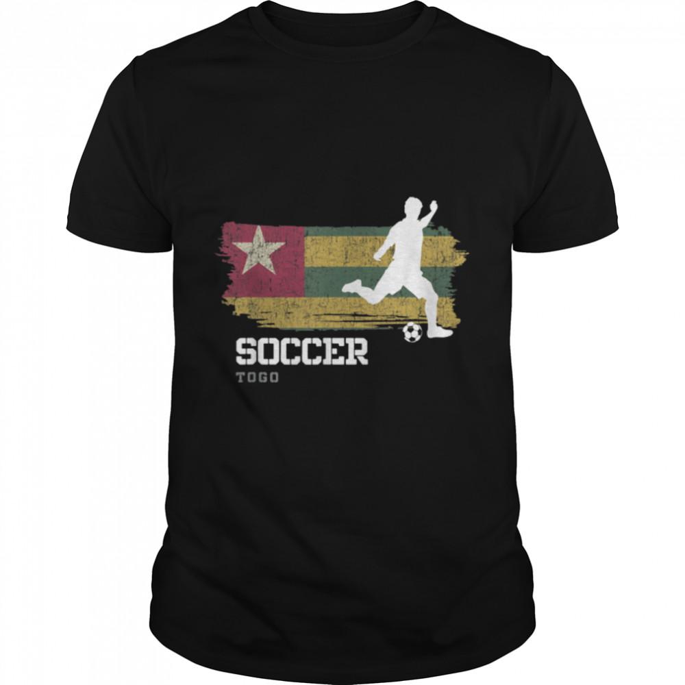 Soccer Togo Flag Football Team Soccer Player T-Shirt B09K23JT7H