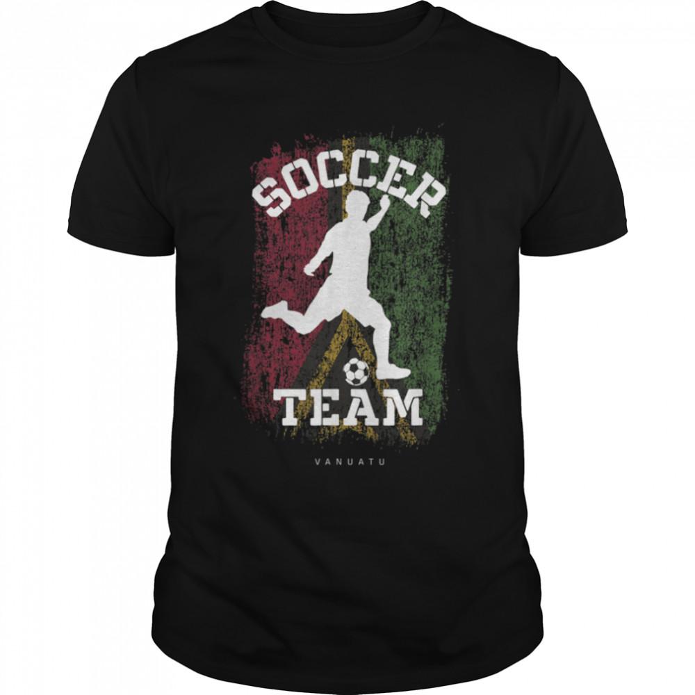 Soccer Vanuatu Flag Football Team Soccer Player T-Shirt B09JPDTW42