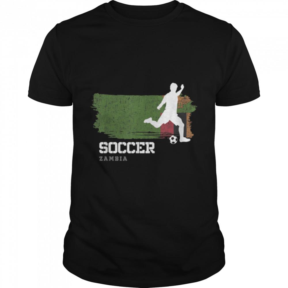 Soccer Zambia Flag Football Team Soccer Player T-Shirt B09K1ZX8Y9