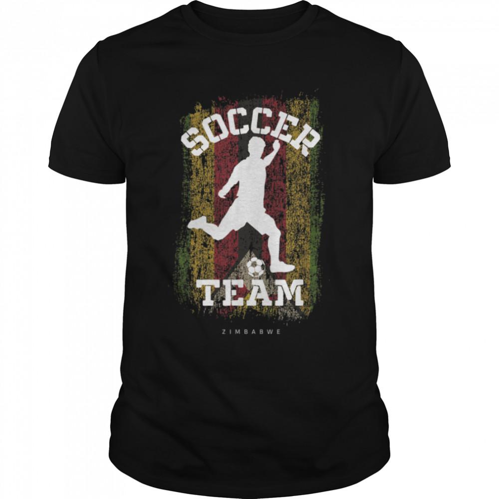Soccer Zimbabwe Flag Football Team Soccer Player T-Shirt B09JPDV3QQ