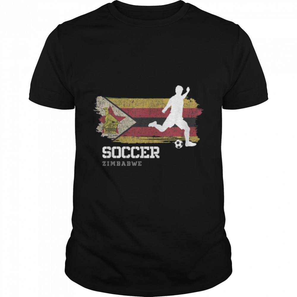Soccer Zimbabwe Flag Football Team Soccer Player T-Shirt B09K11B2K6