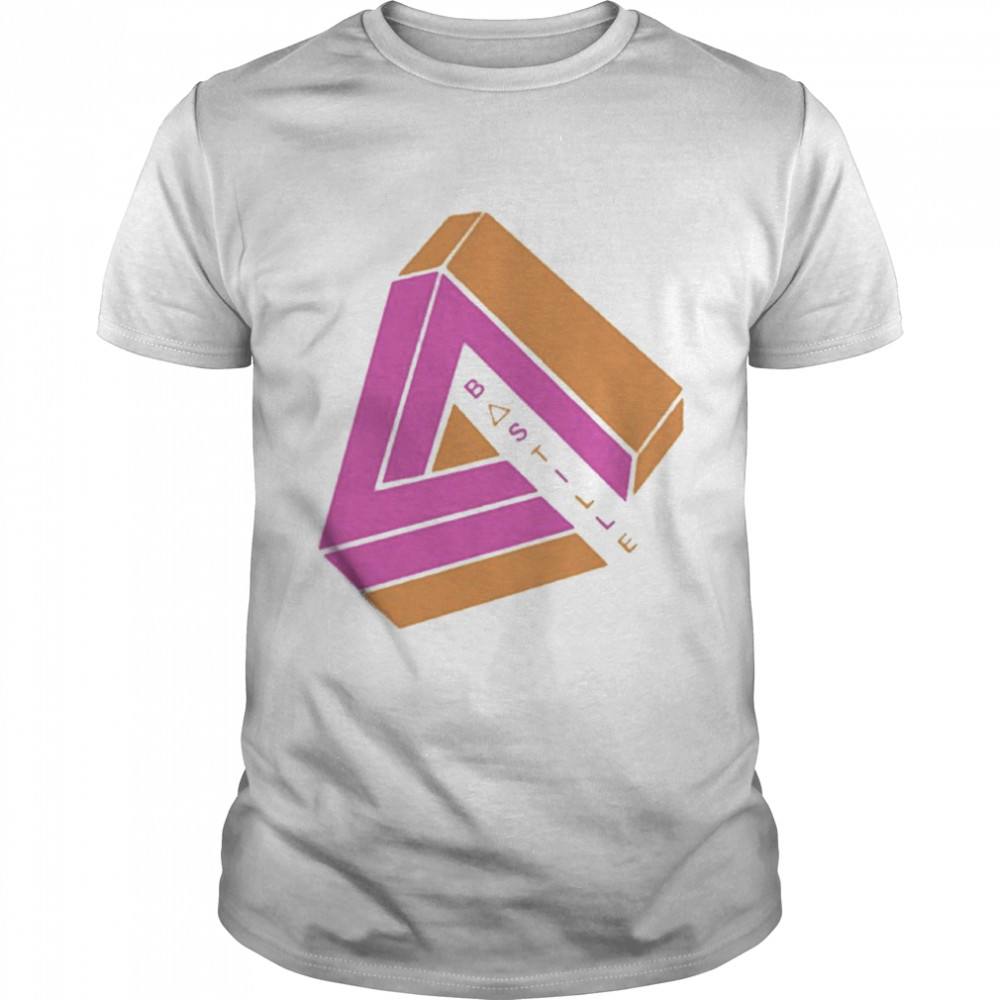 Awesome 2021 Bastille Pink And Orange Merch  Classic Men's T-shirt