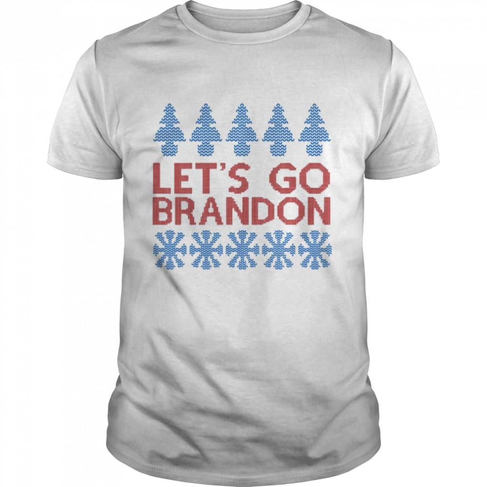 Lets Go Brandon Ugly Christmas shirt Classic Men's T-shirt